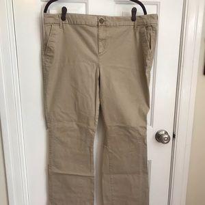 Khaki bootcut pants